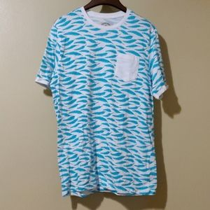 Native Code short sleeve T-shirt with teal feather